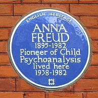 Anna Freud Blue Plaque Freud Museum London